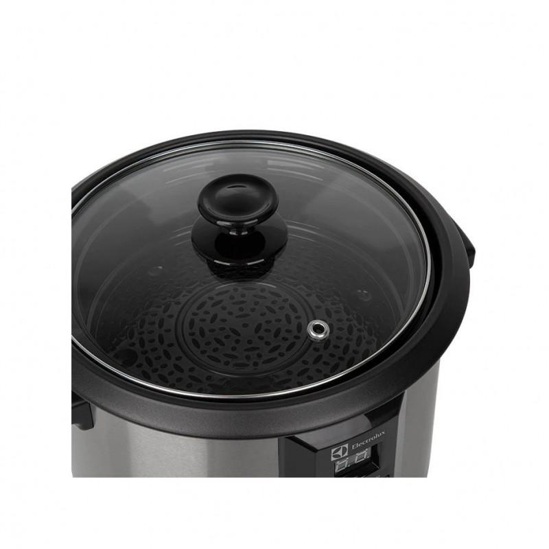 Panela Elétrica de Arroz Chef Display Digital Electrolux 10 Xicaras 1,8L Aço Escovado (ECC20)