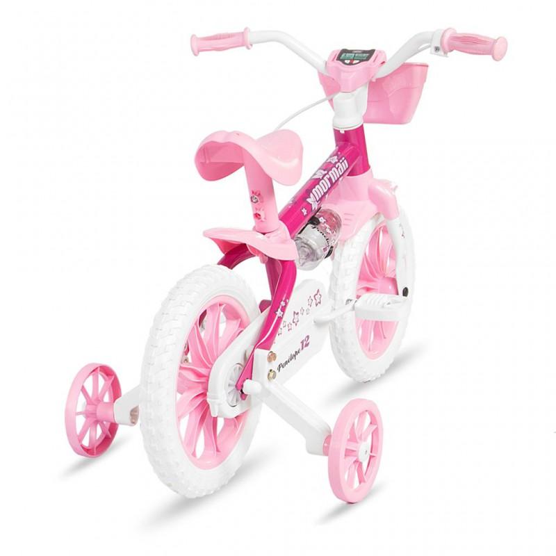 Bicicleta Mormaii Aro 12 Penelope Rosa/Branco - 2011701 - Mormaii