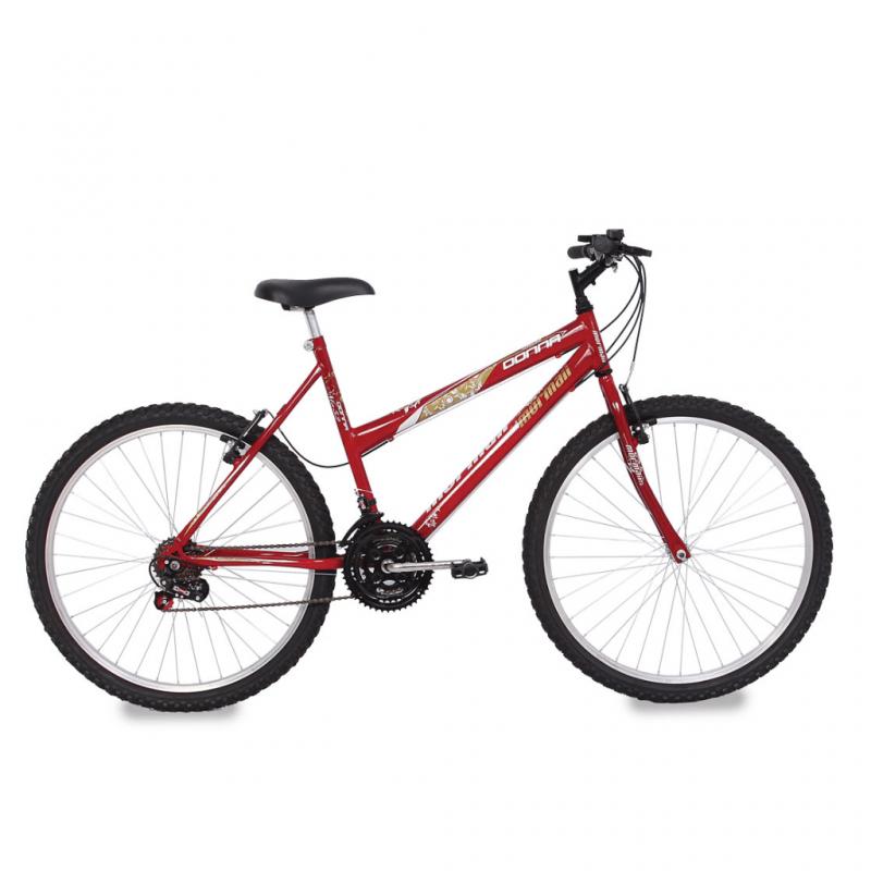 Bicicleta Mormaii Aro 26 18V MA52 DONNA Vermelha -...
