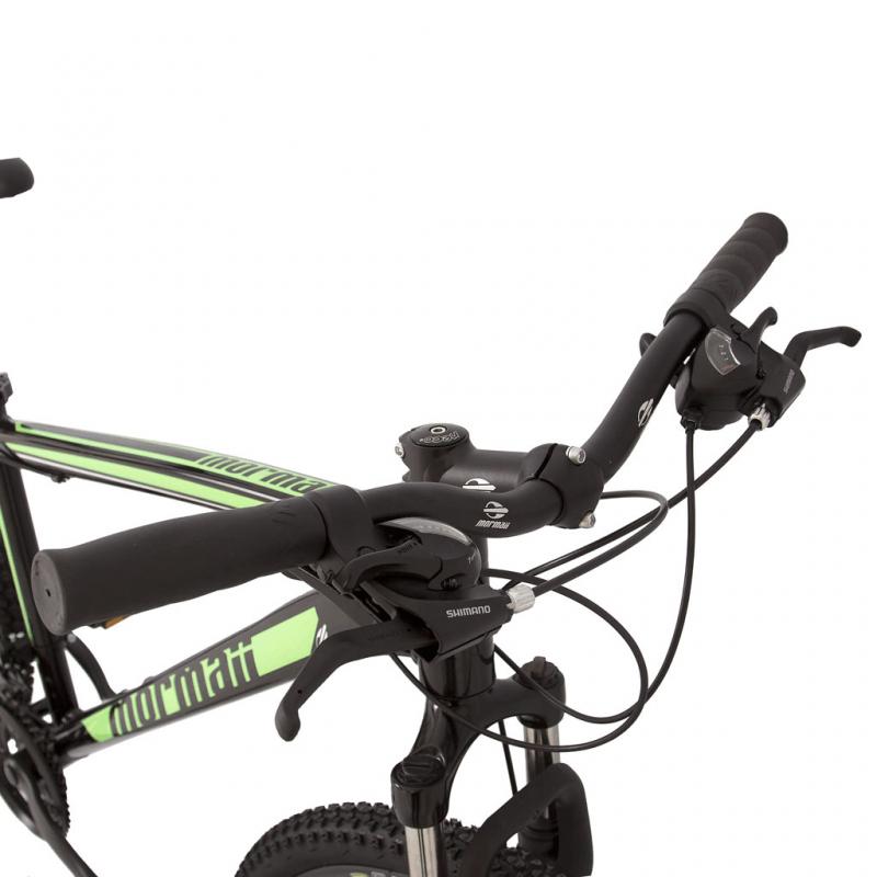 Bicicleta Mormaii Aro 29 Q19 Alum Venice Disk Brake Suspensão 21V Preto Brilhante e Verde - 2011949 - Mormaii