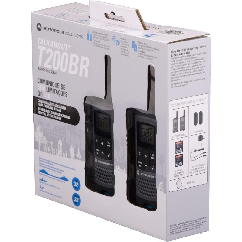 Rádio Comunicador Talkabout Motorola 32km T200BR Cinza