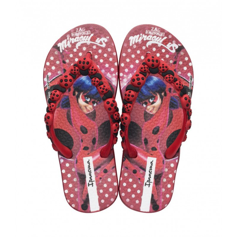 Chinelo Ipanema Ladybug - Vermelho/Vermelho Preto (26123)